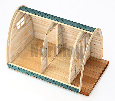 North Log Luxury ISO Camping Pod 2,4 x 4,0M House Holiday Garden Shed