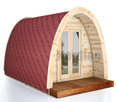 North Log Luxury ISO Camping Pod 2,4 x 3,0m House Holiday Garden Shed