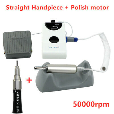 NSK TYPE Dental Portable Electric Polisher Micro Motor + Straight Handpiece