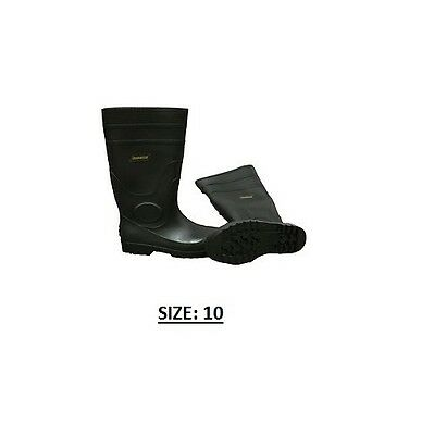 Ironwear 9258B Size 10 Rubber Boots With Steel Toe - Black