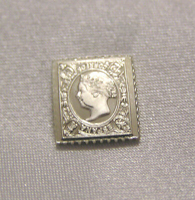 Solid Silver Stamp Spain 1865 12-Cent Queen Isabella Inverted Frame