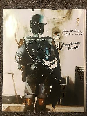 Jeremy Bulloch Jason Wingreen Star Wars Boba Fett Dual Signed Autographed Photo