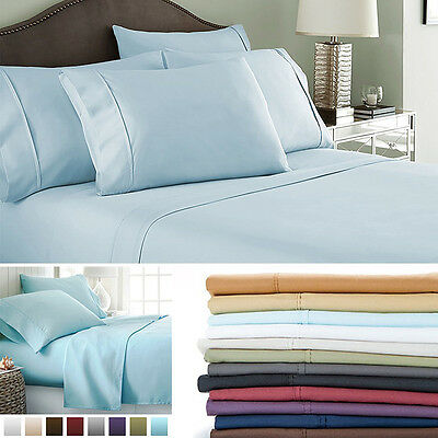 New Egyptian Comfort 1800 Count Hotel Quality 4 Piece Deep Pocket Bed Sheet Set