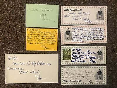 Mike Edmonds Star Wars Logray Ugnaught Autograph Signed Letters Index Card