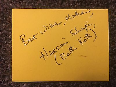 Hassani Shapi Star Wars Eeth Koth Autographed Signed Index Card
