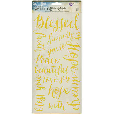 "Christine Adolph Adhesive Rub Ons 5.5""X12"" Blessed Words ARO-71342"
