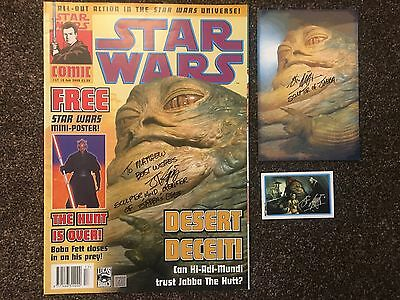 John Coppinger Star Wars Jabba The Hutt Autographed Signed Magazine & Others