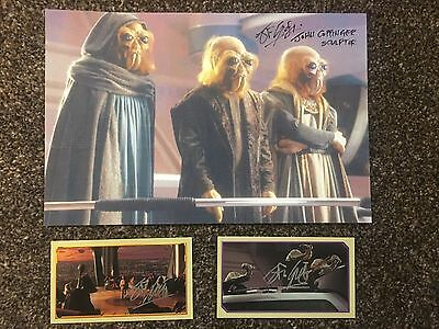 John Coppinger Star Wars Sculptor Autographed Signed Picture and Stickers