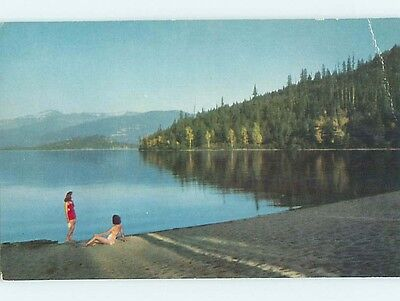 Pre-1980 WATER SCENE Priest Lake - Coolin Idaho ID hk2211