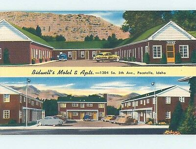 Unused Linen MOTEL SCENE Pocatello Idaho ID hk0791