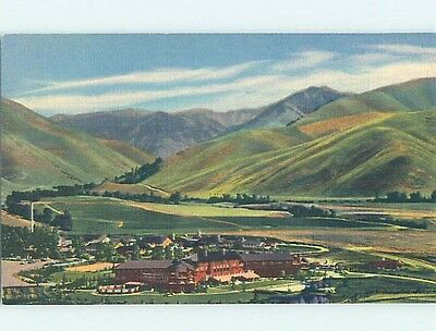Unused Linen POSTCARD FROM Sun Valley Idaho ID HM9149