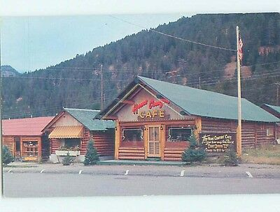 Unused Pre-1980 HOME COMFORT CAFE RESTAURANT Cooke City Montana MT hn0409