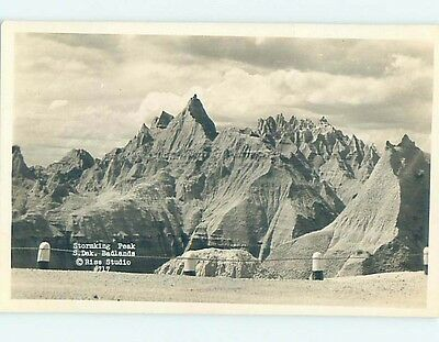 Pre-1950 rppc STORMING PEAK IN BADLANDS Rapid City South Dakota SD HM3607