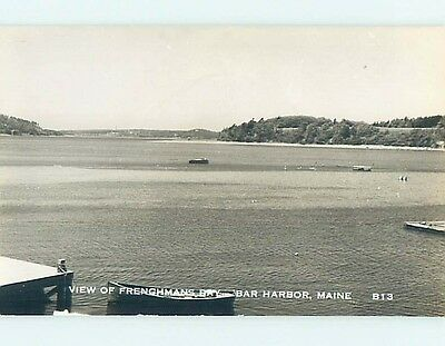 Old rppc BOAT DOCK AT FRENCHMAN'S BAY Bar Harbor Maine ME HM4033