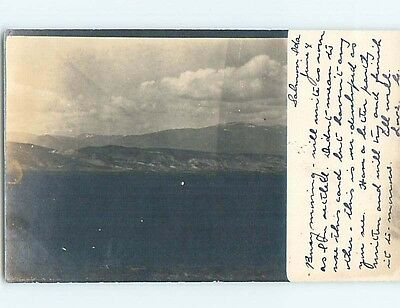 Pre-1907 rppc PANORAMIC VIEW Card Writer Marked As Salmon Idaho ID HM2458