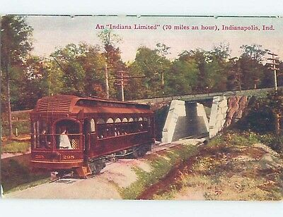 Divided-Back INDIANA LIMITED TRAIN CAR Indianapolis Indiana IN HM6648