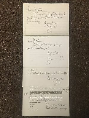 Jerry Harte Star Wars Hoth Controller Autograph Signed letters