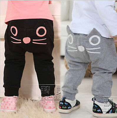 Toddler Infant Kids Baby Boy Girl Harem Long Pants Trousers Leggings Bottom 0-2Y