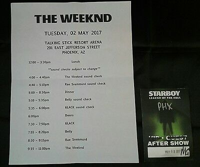 The Weeknd Starboy Legend Of The Fall Band Schedule And Used After Party Pass