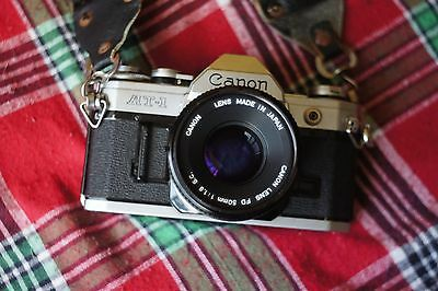 Canon AT-1 SLR Camera With Canon FD 50mm f1.8 S.C. Lens