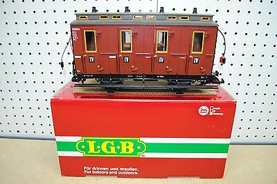 LGB 30504 4th Class Passenger Compartment Car w/Lights *G-Scale*