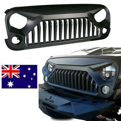 Upgrade Angry topfire Bird Grill Grille Grid Matte For 07-16 Jeep Wrangler JK