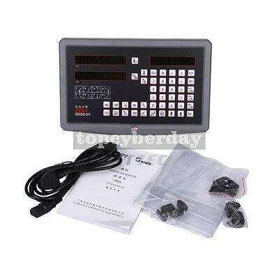 SINO 2 Axis Dro Digital Readout + 2 pcs SDS6-2V Linear Scales Complete DRO Kit