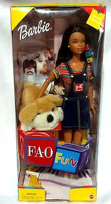 Barbie Doll Fao Fun Patrick Puppy Plush Special 1999 Ethnic Green Eyes Brunette