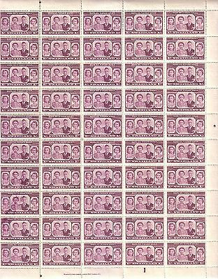"1947 Swaziland ""Visit by the Royal Family"" 1s Mint Full Sheet 60 Stamps 2 Scan"