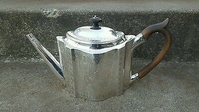 Antique Sterling Silver Peter & Ann Bateman 18th C. Silver Teapot, Dated 1791