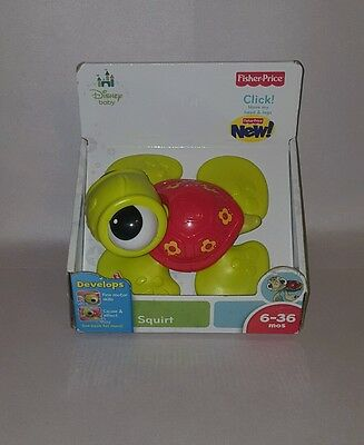 Fisher Price Disney Baby Squirt / Finding Nemo Toy New In Box, NIB 6-36 Months