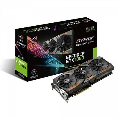 Asus ROG Strix GeForce GTX1060-6G Gaming Grafikkarte (Nvidia, PCIe 3.0, 6GB