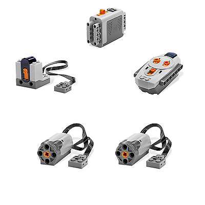 LEGO TECHNIC Power Functions M Motor Battery IR Remote Receiver SET 5pcs [NEW]