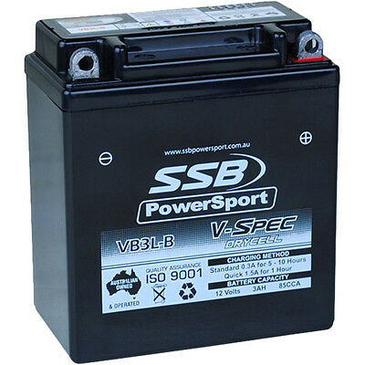SSB Powersport NEW VB3L-B 12V V-Spec High Performance Motorcycle AGM Battery
