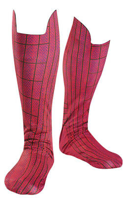 The Amazing Spider Man Spiderman Adult Boot Covers Accessory Fancy Dress Costume