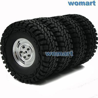 4 Stück RC 1/10 1.9 Crawler Off Road Reifen Tires Tyre Hex 12mm Felge Wheels Rim