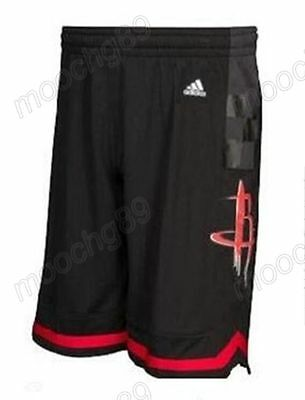 New Black Houston Rockets Men's Basketball Shorts Size:S,M,L,XL,XXL