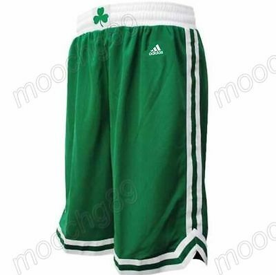New Green Boston Celtics Men's Basketball Shorts Size:S,M,L,XL,XXL