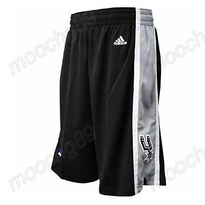 New Black San Antonio Spurs Men's Basketball Shorts Size:S,M,L,XL,XXL