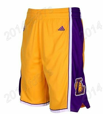 New Yellow Los Angeles Lakers Men's Basketball Shorts Size:S,M,L,XL,XXL