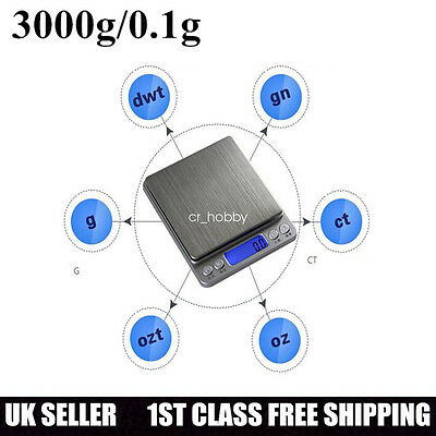 500g /0.01g Precision Electronic Scales Digital Scale Jewelry Weighing Balance