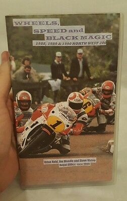 NW200 NORTH WEST: WHEELS SPEED AND BLACK MAGIC 1988,1989 & 1990 vhs,bikes