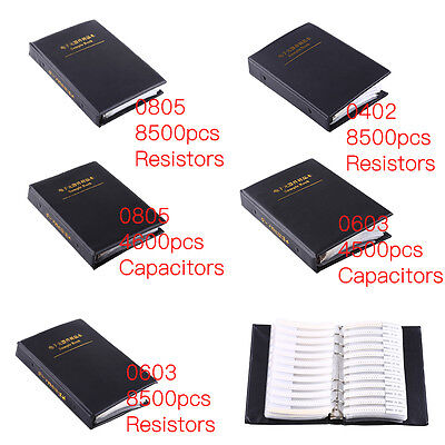 0402 0603 0805 SMD SMT Chip Resistor Surface Mounted Capacitor Sample Book 1%