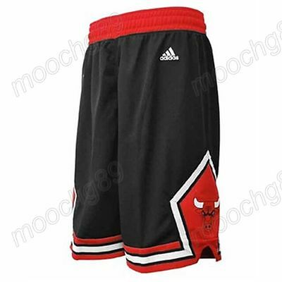 New Black Chicago Bulls Men's Basketball Shorts Size:S,M,L,XL,XXL
