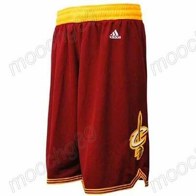 New Red Cleveland Cavaliers Men's Basketball Shorts Size:S,M,L,XL,XXL