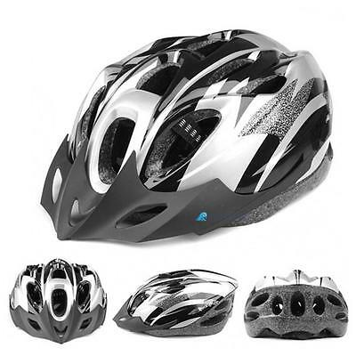 Mens Adult MTB Bike Bicycle Road Cycling 18 Holes Safety Helmet With Visor Black