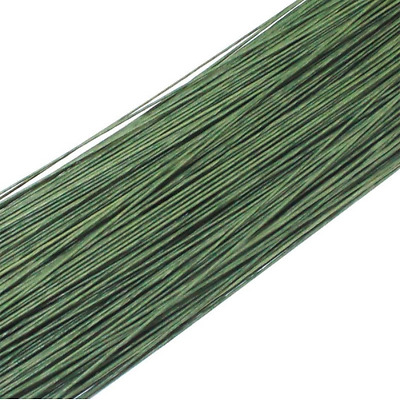 50PCS Dark Green #26 Paper Covered Wire DIY Nylon Stocking Flower Making