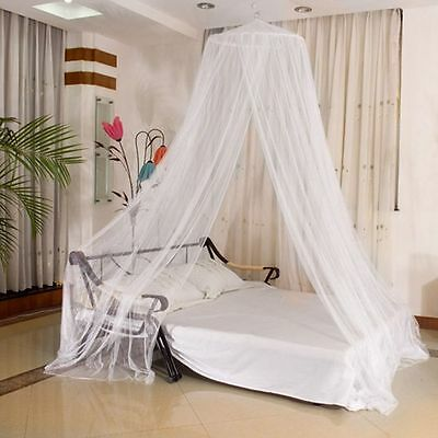 Pink/White Round Lace Curtain Dome Bed Canopy Netting Princess Mosquito Net