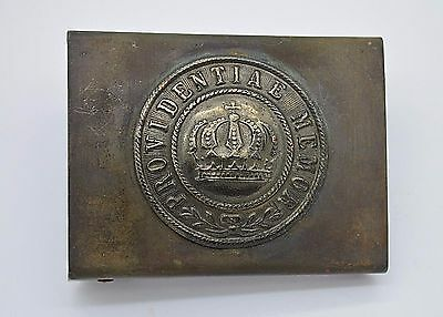 WWI Germany Tunic Uniform Belt Buckle ''Providentiae Memor'' (Saxony)