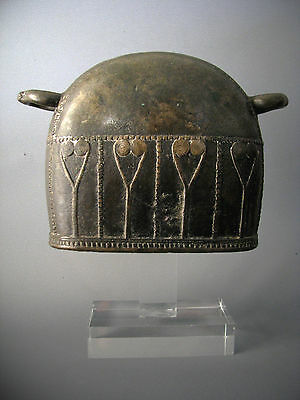 3#Antique Bronze Elephant Bell With Clear Stand Beautiful Rare Cheap Don't Mis*
